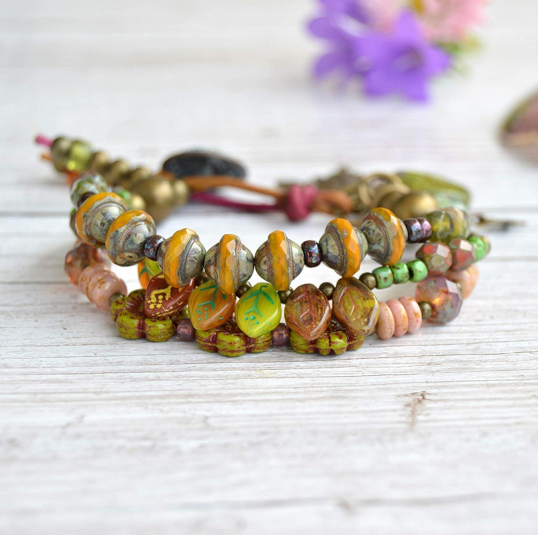 Pulsera de abalorios multicolor mujer, Joyas para regalar
