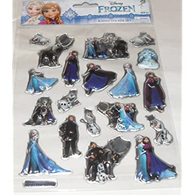 D&F Disney Frozen Raised Metallic Stickers - Elsa, Anna, Olaf, Christof & Sven: Toys & Games