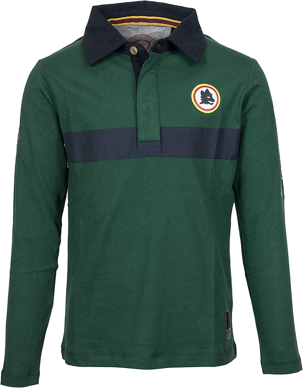 AS Roma Core Coll Polo, Bambino, Dark Green, 14: Amazon.es ...