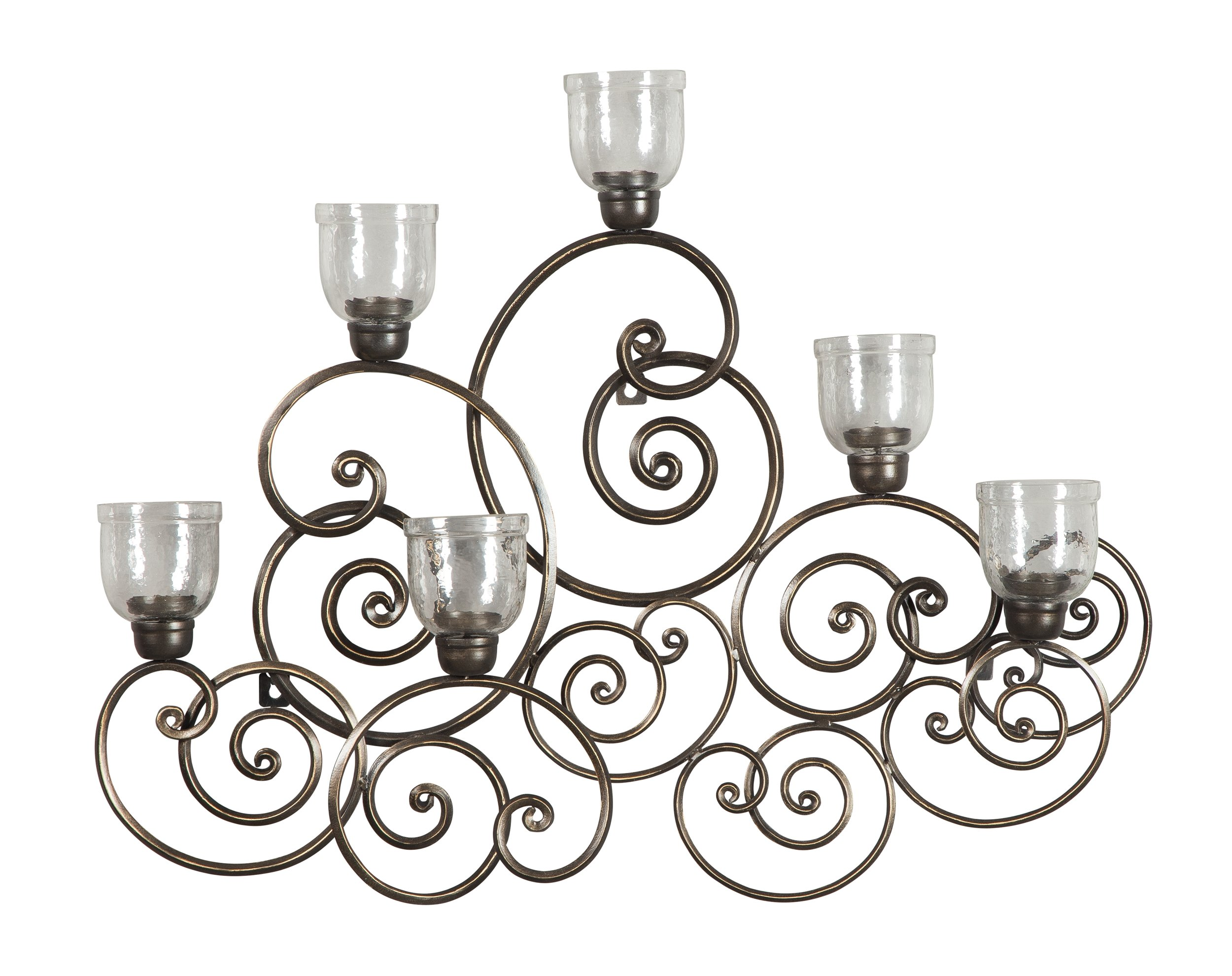 Ashley Furniture Signature Design - Durin  Wall Sconce - Traditional - Dark Bronze Finish