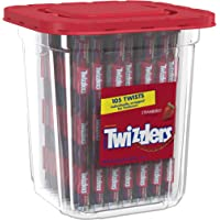 Twizzlers Strawberry Licorice, Individually Wrapped, 2Lb Tub