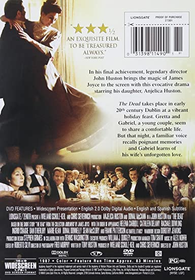Amazon com: The Dead: Anjelica Huston, Donal McCann, Dan O