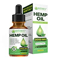 Organic Hemp Oil Extract Drops 3000mg - Ultra Premium Pain Relief Anti-Inflammatory...