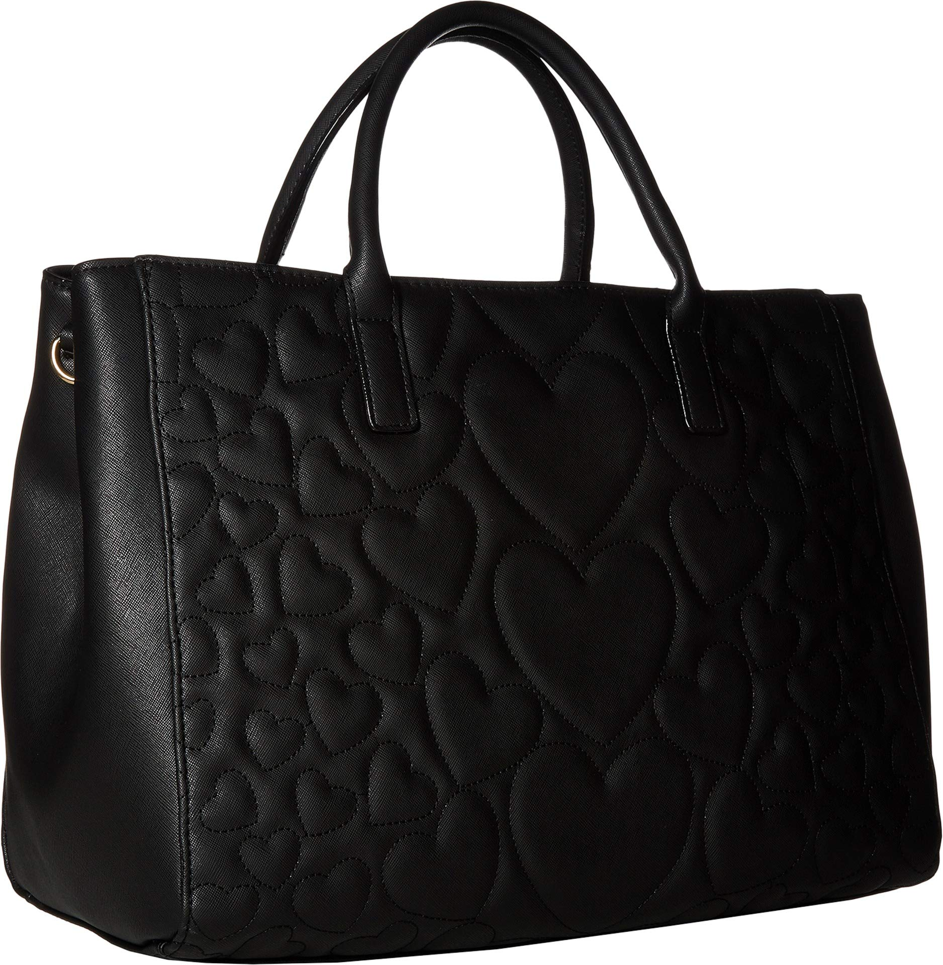 Betsey Johnson Women's Structured Quilt Satchel Black One Size by Betsey Johnson (Image #2)