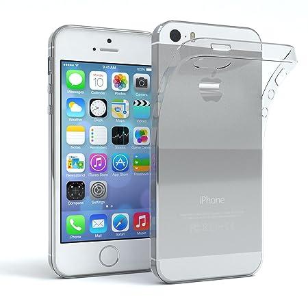 EAZY CASE Hülle für Apple iPhone 5 / 5S / SE Schutzhülle Silikon, Ultra dünn Slimcover, Handyhülle, Silikonhülle, Backcover,