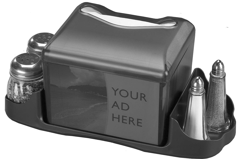 San Jamar H4005 Venue Table Top Fullfold Control Napkin Dispenser with Caddy Black Pearl H4005CTBK 200 Capacity