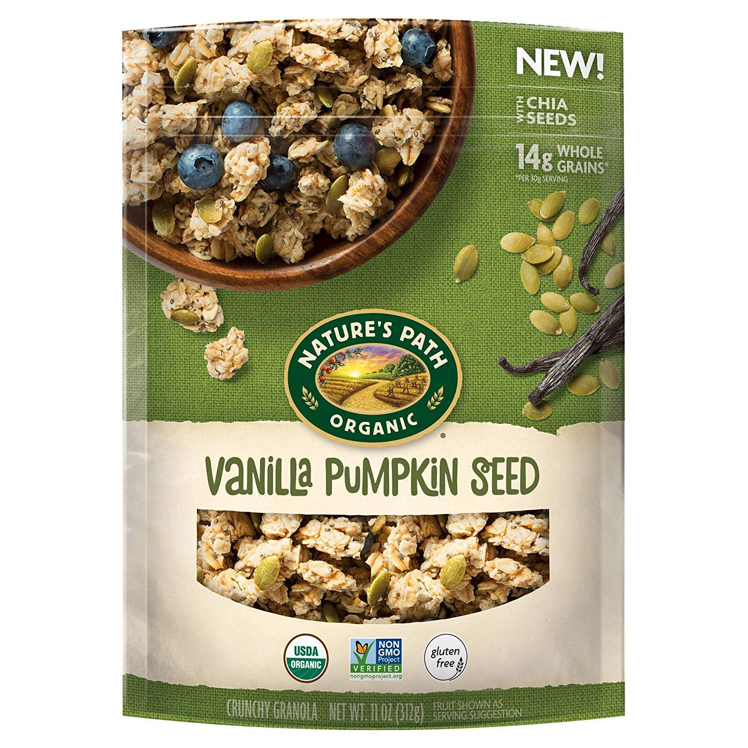 Nature's Path Vanilla pumpkin seed granola 11oz , one bag by Nature's Path