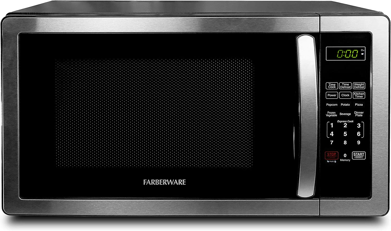 Black Digital Countertop Microwave Oven Red White