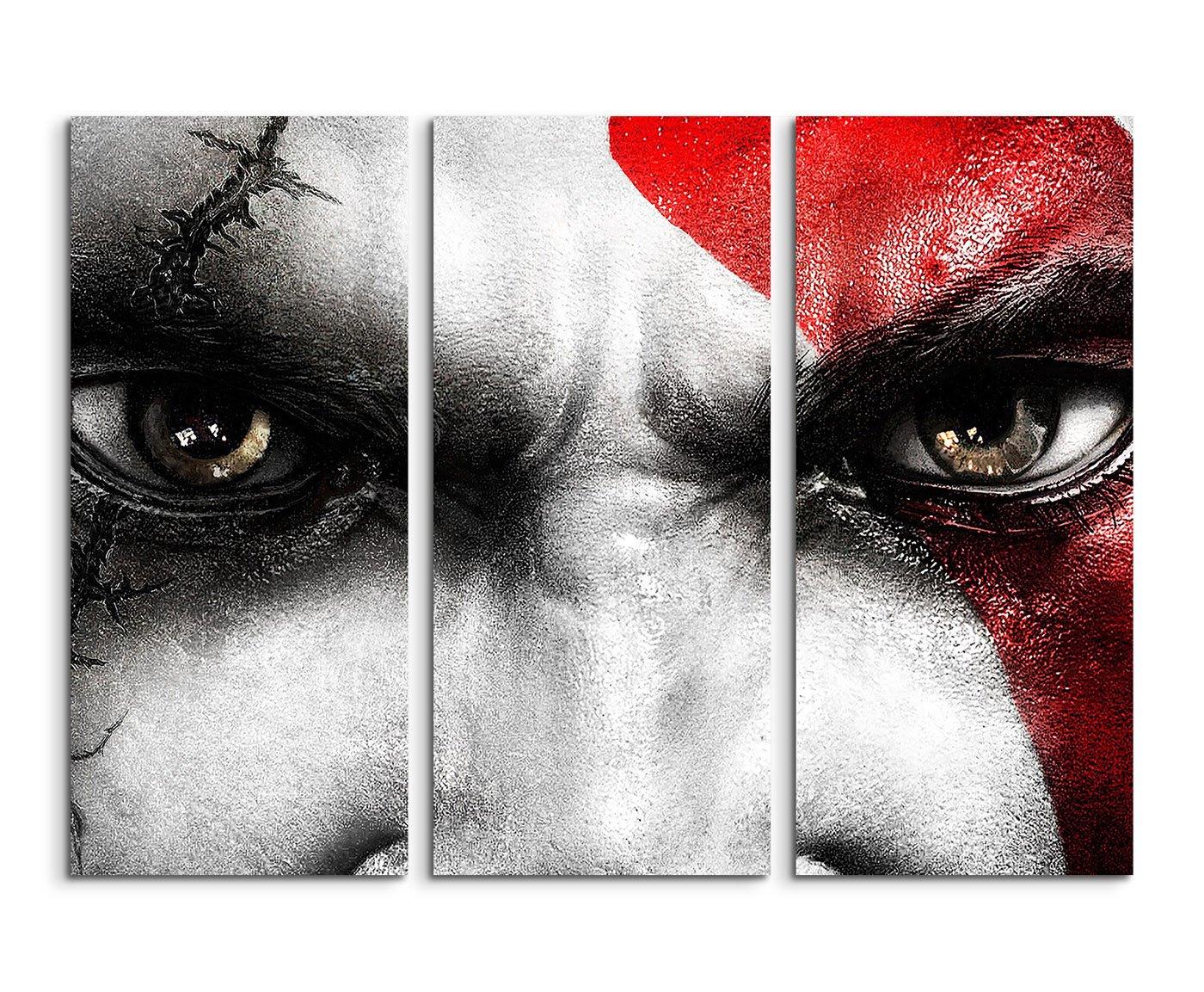 Lot de 3/Tableau sur Toile Kratos Guerre dieu de /_ /_ /_ /_ /_ /_ /_ /_ /_ /_ /_ /_ /_ /_ /_ /_ /_ /_ /_ /_ /_ 3/x 90/x 40/cm Total Taille 120/x 90/cm /_ Ausf/ührung Finition superbe Impression sur toile comme un v/éritable Tableau mura