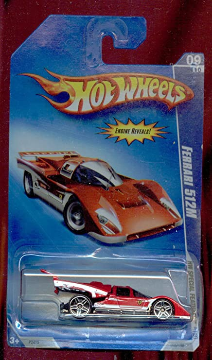Amazon Com Hot Wheels 2009 095 Red Ferrari 512m Hw Special Features 9 Of 10 1 64 Scale Toys Games