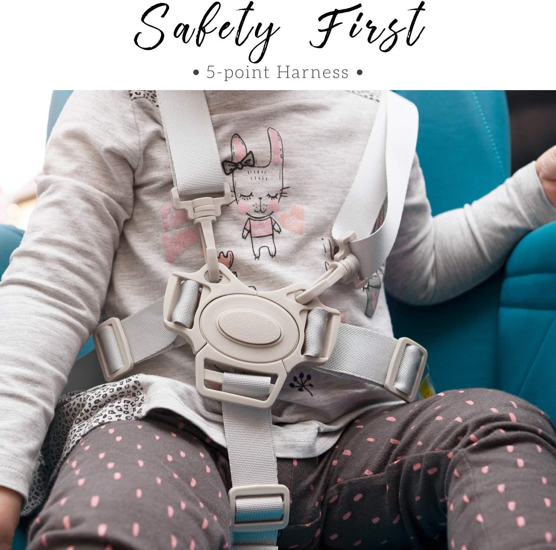 Chaise Haute Bebe Compacte Reglable et Pliable Chaise Haute pour Bebe Enfant /à Tablette Amovible sans BPA Chaise Haute B/éb/é Harnais 5 Attaches Chaise Bebe Design Coussin B/éb/é Confort