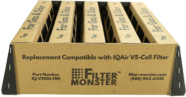 Repuesto de carbón Activado Compatible con IQAir V5-Cell Filtro de ...
