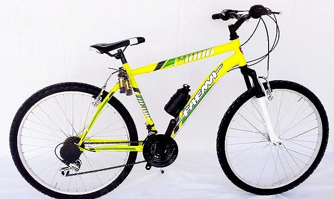 FAEMA Bicicleta 26 MTB Horquilla amortiguada Hombre Amarillo ...
