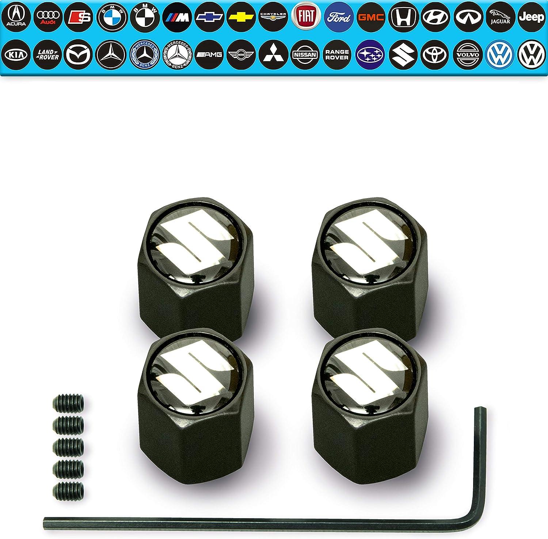 SUZUKI Titanium valve Tyre Dust Caps Plastic Inside all models 10 colours VITARA