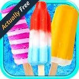Celebrity Frozen Ice Popsicles - Virtual Kids Ice Cream Pops Maker FREE