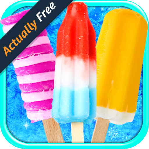 Celebrity Frozen Ice Popsicles - Virtual Kids Ice Cream Pops Maker FREE