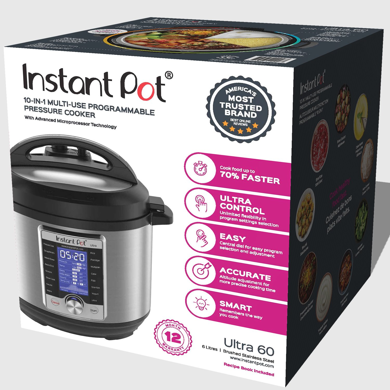 Instant Pot Ultra 6 Qt 10-in-1 Multi- Use Programmable Pressure Cooker, Slow Cooker, Rice Cooker, Yogurt Maker, Cake Maker, Egg Cooker, Sauté, Steamer, Warmer, and Sterilizer by Instant Pot (Image #7)