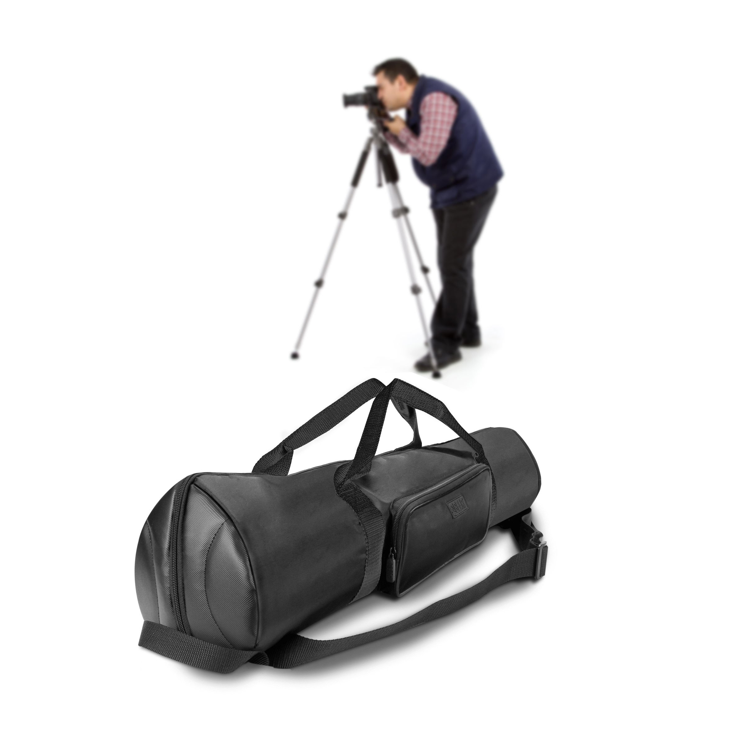 USA Gear Padded Tripod Case Bag - Holds Tripods from 21'' to 35'' Folded with Shoulder Strap, Adjustable Size Extension and Storage Pocket for Professional Camera Accessories and Photo Carrying Needs by USA Gear (Image #9)