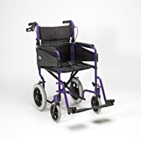 Patterson Medical Days Escape Lite Aluminium Wheelchair,  Purple - Narrow