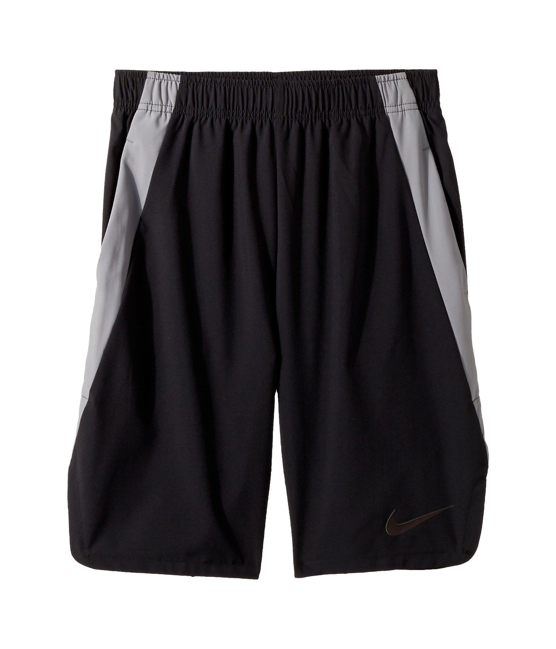 Nike Boys Vent Training Shorts (Medium, Black/Cool Grey/Black)