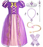 ReliBeauty Girls Rapunzel Dress Puff Sleeve Princess Costume