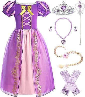 ReliBeauty Girls Elastic Waist Backless Princess Dress Costume