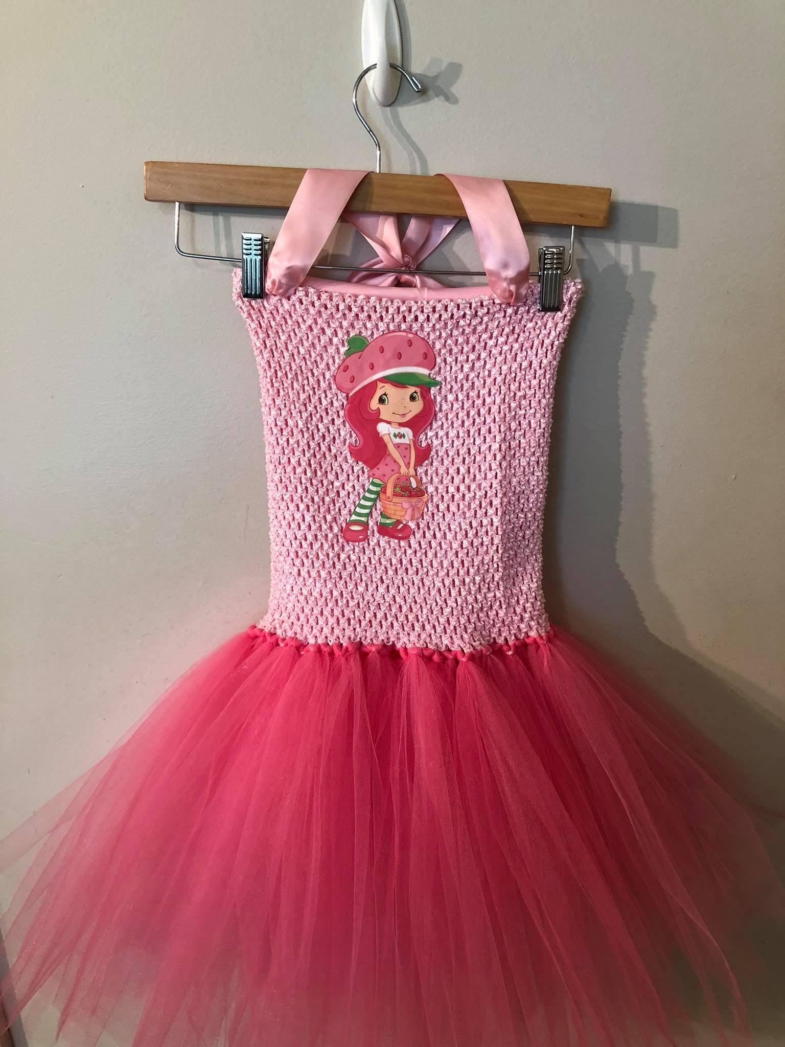 Strawberry Shortcake Tutu Dress 4T - 7/8y