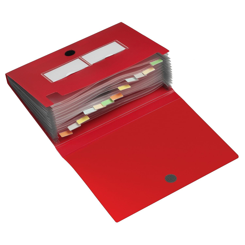 HF2 141247 - Carpeta archivadora tipo acordeón, 12 compartimentos