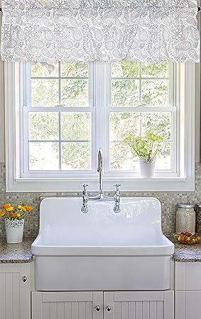 Charmant Crabtree Collection Paisley Rideau De Fenêtre Valance 40cm X 152cm    Imprimer Pour Cuisine Bath Chambre