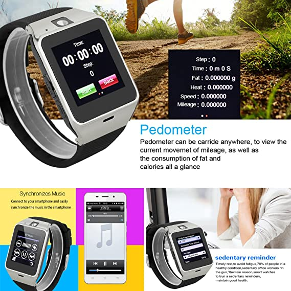 Amazon.com: Smart Watch Anti Lost Bluetooth Wristwatch Pedometer Activity Tracker Sports Smartwatch Music Wristband Compatible with Men Women Boys Android ...