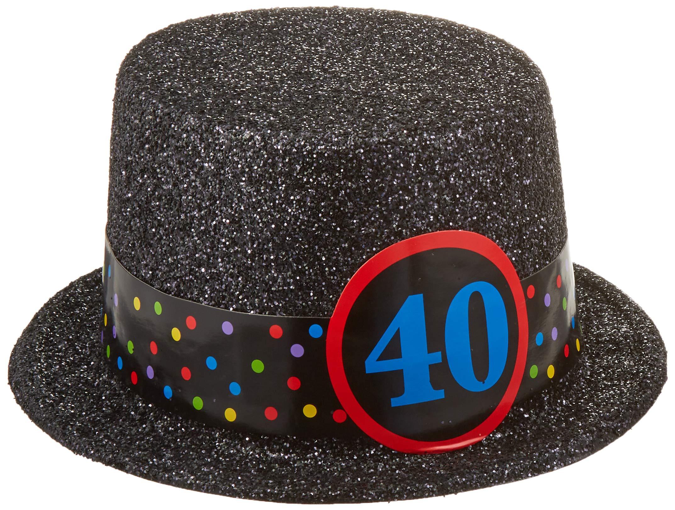 amscan 40th Birthday Top Hat, 12 Ct.
