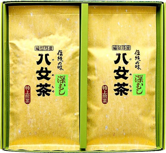 岩﨑園製茶 新茶 2020年産 福岡県産 八女茶 のしなし マイルド 深むし 特上 煎茶 100g × 2袋 ギフト セット