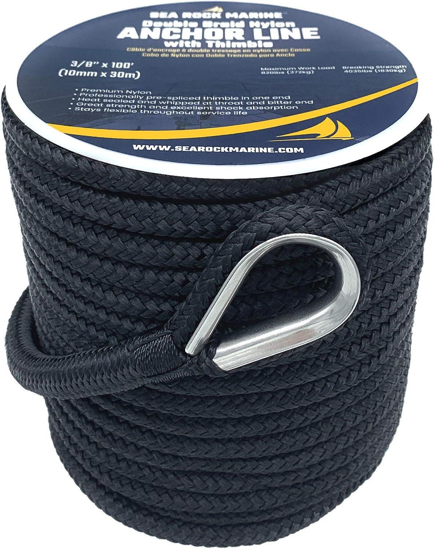 /40091/Cap arrimage nylon double tress/é Couleur Bleu Marine Seachoice 50/ 9/mm x 4,5/m
