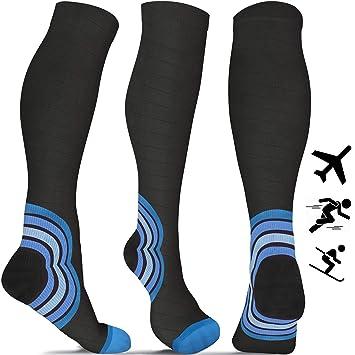 aZengear Calcetines de compresión - Calcetines de Vuelo para Hombres y Mujeres (de 20 a