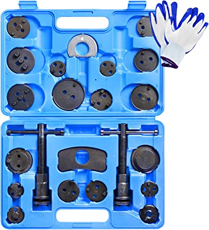 BTSHUB 24pcs Disc Brake Caliper Wind Back Tool Set Front and Rear Brake Piston Compression Tool