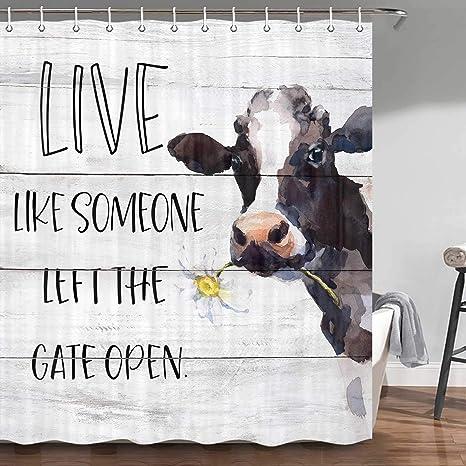 "Herd of Cattle Shower Curtain Bathroom Decor Fabric Bath Curtain 71/"""