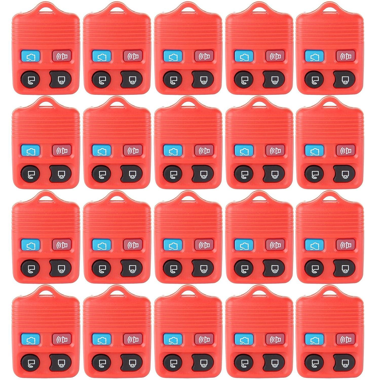 ECCPP 20 x新しい交換キーレスリモートキーFobクリッカーシェルケースハウジングFixボタンパッドfor cwtwb1u212 cwtwb1u331 gq43vt11t ( red-btn ) B07BBP948K