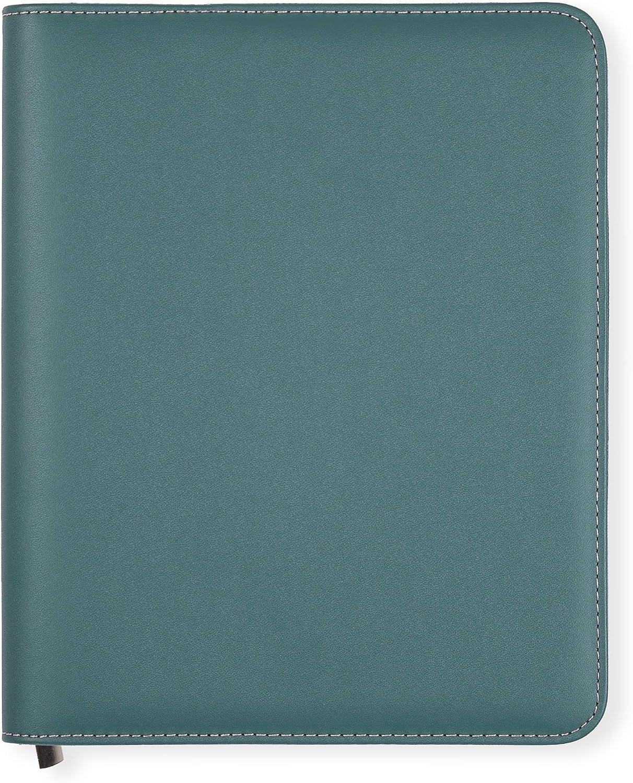 Funda Agenda A5 Essentials de Boxclever Press de cuero sintético con cierre de cremallera. Funda agenda 2020 2021 para agendas, cuadernos y planner 2020 2021. (Azul petróleo) (Azul petróleo)