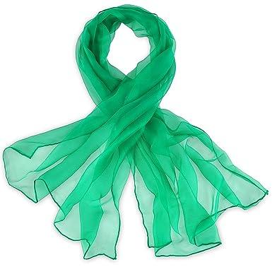 Foulard mousseline soie Vert uni  Amazon.fr  Vêtements et accessoires 1868412686c