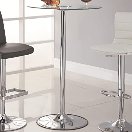 Coaster Bar Table Top And Base Black