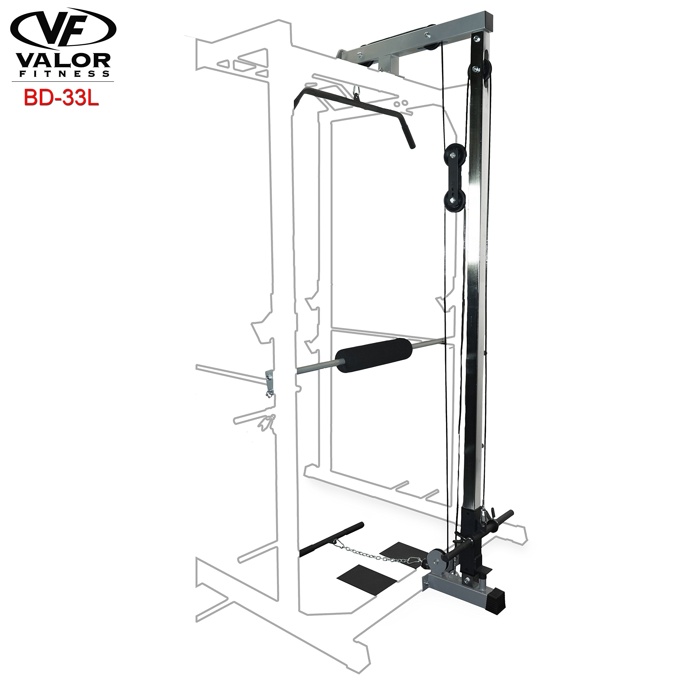 Valor Fitness Lat Pull for BD-33 Heavy Duty Power Cage