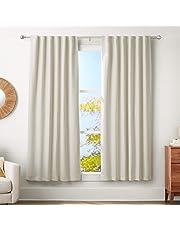 AmazonBasics - Barra para cortinas con remados redondeados, 180-360 cm, Níquel