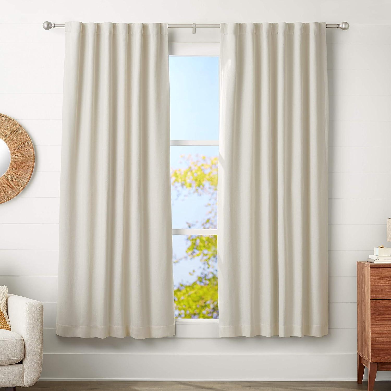 Basics 180-360 cm Barra para cortinas con remates redondeados N/íquel