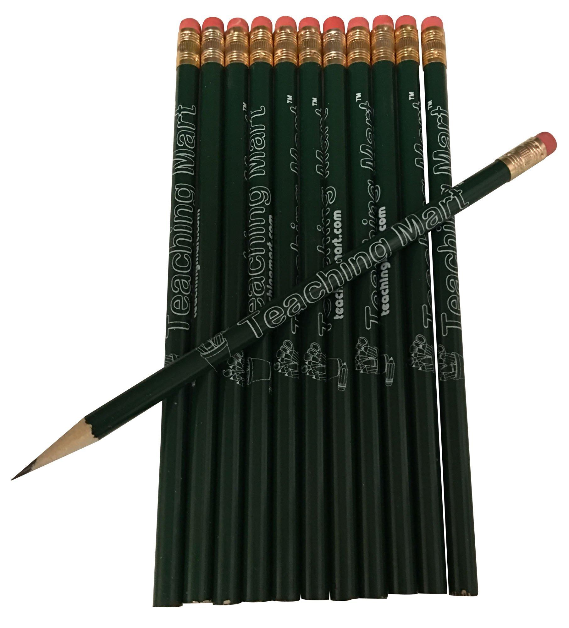 Heavy Duty Electric Pencil Sharpener with 12-Pack TeachingMart Pencils by TeachingMart