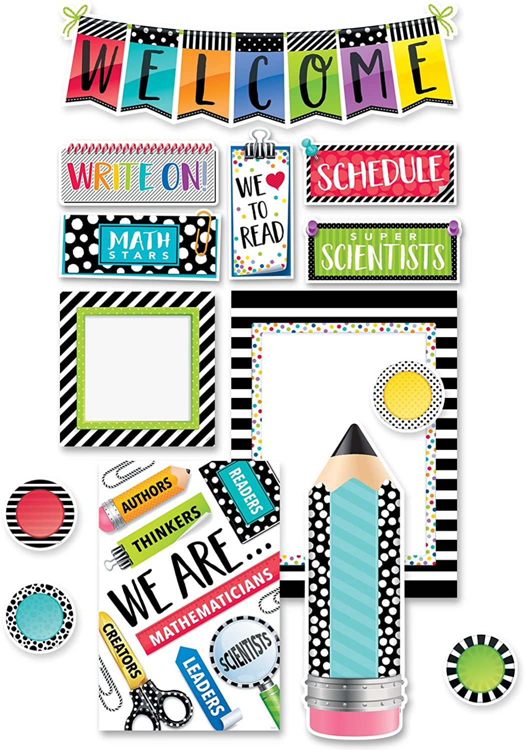 Creative Teaching Press Bold & Bright Bulletin Board Set (Room Displays and Decoration for Classrooms, Learning Spaces and More)
