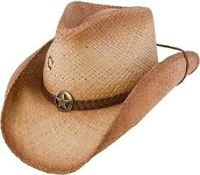 efe0eeb187b808 Charlie 1 Horse Men's Lone Ranger Straw Cowboy Hat Tea Large