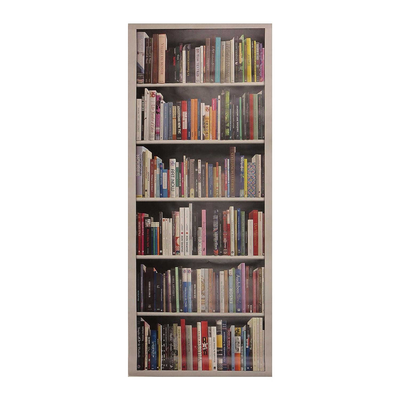 83 x 0,1 x 204 cm Multicolore Trompe loeil porte Adh/ésif 141023 D/écoration Murale Polyvinyle