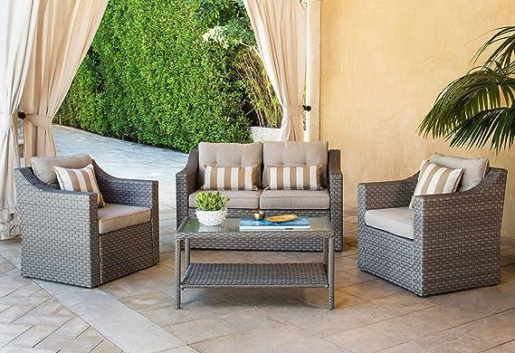 Amazon.com: Solaura Juego de muebles de exterior de 5 – 7 ...