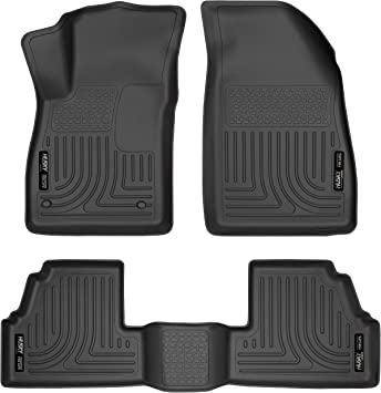 Amazon Com Husky Liners 98271 Fits 2013 20 Buick Encore 2015 20 Chevrolet Trax Weatherbeater Front 2nd Seat Floor Mats Black Automotive