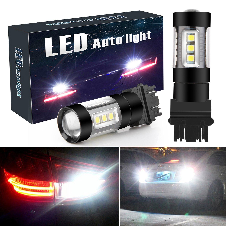 Led Backup Lights >> Botepon 3157 3056 3156 3057 Led Backup Lights Bulb 1800 Lumens Extremely Bright 3030 16 Smd Led Bulb For Car Led Backup Reverse Lights Brake Light